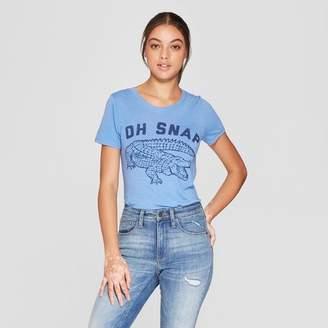 Awake Women's Short Sleeve Oh Snap Graphic T - Shirt Blue