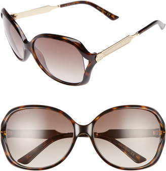 bee57595c9e0f Gucci 60mm Open Temple Oval Sunglasses
