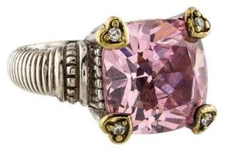 Judith Ripka Crystal & Diamond Fontaine Cocktail Ring
