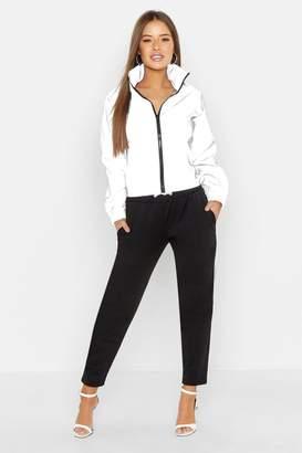 boohoo Petite Reflective Fabric Track Jacket