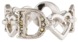 Christian Dior  Christian Dior Crystal Signature Heart Band