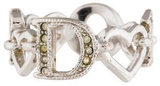 Christian Dior Christian Dior Crystal Signature Heart Band