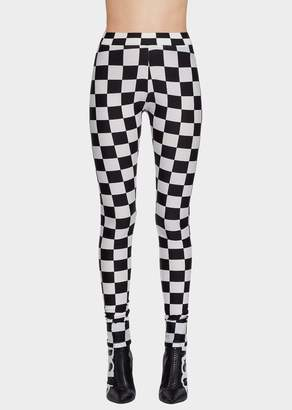Versace Checkerboard Print Leggings