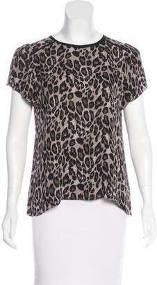 Ulla Johnson Short Sleeve Printed Silk Top