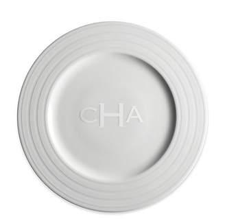 Caskata Personalized Cambridge Stripe Dinner Plate