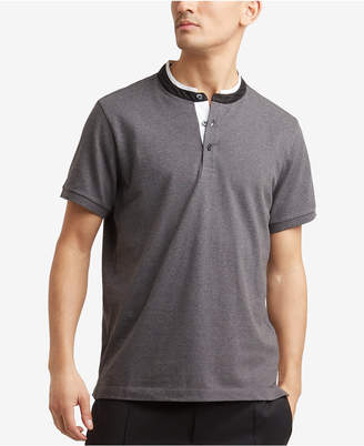 Kenneth Cole New York Kenneth Cole Knit Band-Collar T-Shirt