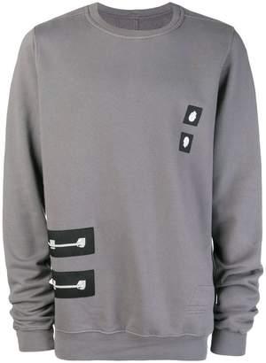 Rick Owens patch long-sleeve sweatshirt
