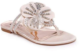 Badgley Mischka Laurie Flower Flat Sandals