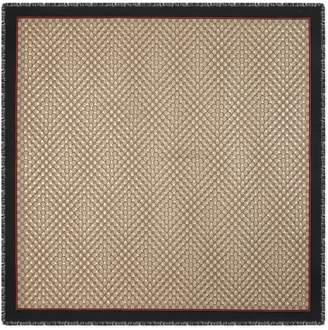 Gucci Modal silk shawl with GG bees motif