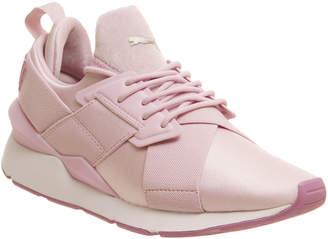 b775052cf0b Puma Muse Xstrap Trainers Pink White