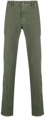 Incotex checked straight trousers