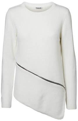 Noisy May Asymmetrical Zip Sweater