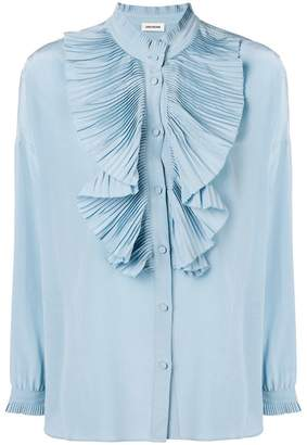 Zadig & Voltaire Zadig&Voltaire Tamacco pleated shirt