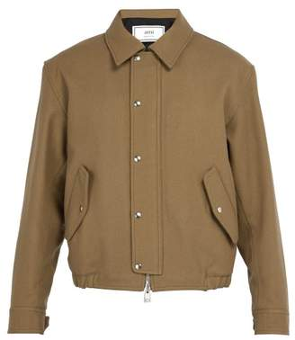 Ami - Wool Blend Jacket - Mens - Camel