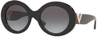 Valentino Acetate Oval Sunglasses
