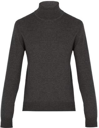 Maison Margiela Roll Neck Wool Blend Sweater - Mens - Grey