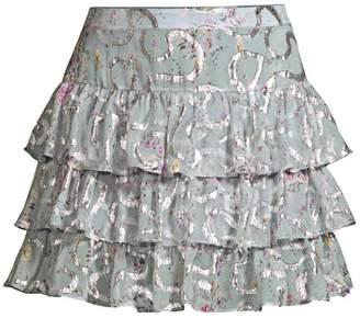 LoveShackFancy Alyssa Tiered Ruffle Skirt