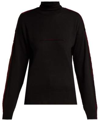 Mm6 Maison Margiela - Roll Neck Wool Sweater - Womens - Black