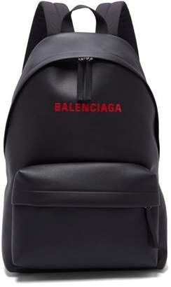 Balenciaga Everyday logo-print leather backpack
