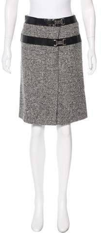 Michael Kors Wool Embellished Skirt