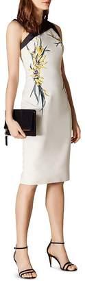 Karen Millen Asymmetric Embroidered Sheath Dress