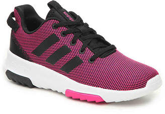 adidas Cloudfoam Racer TR Toddler & Youth Sneaker -Black/Pink - Girl's