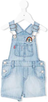 Levi's Kids patch embellished denim overalls