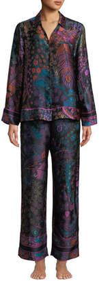 Josie Natori Nouveau Classic Silk Pajama Set