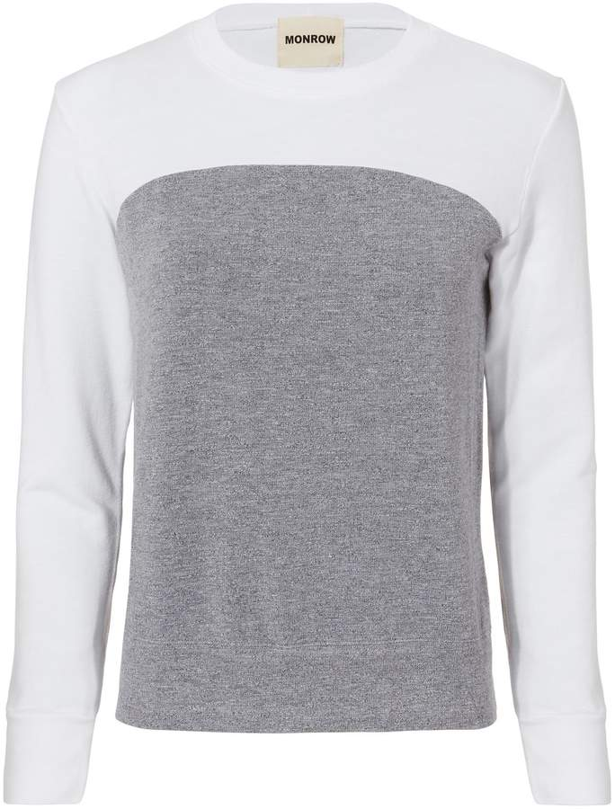 Monrow Colorblocked Sweatshirt