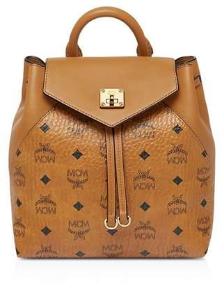 MCM Essential Visetos Original Small Convertible Backpack