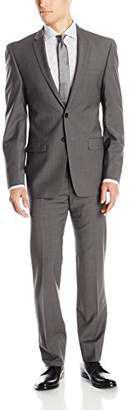 DKNY Men's Driver Modern Fit Two Button Suit