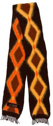 Just Cavalli Wool-Blend Patterned Scarf