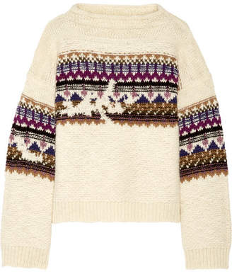 Elsey Intarsia Wool-blend Sweater - Cream