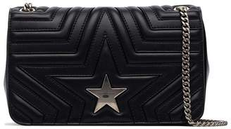 Stella McCartney navy Star quilted faux leather shoulder bag