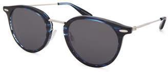 Barton Perreira Men's Cambridge Metal-Trim Plastic Sunglasses