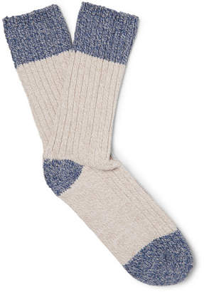 Outerknown Two-Tone Cotton-Blend Socks