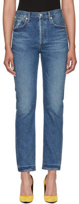 Citizens of Humanity Blue Charlotte Straight Jeans