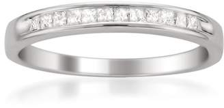 14k Gold Princess-Cut Diamond Wedding Band (1/4cttw
