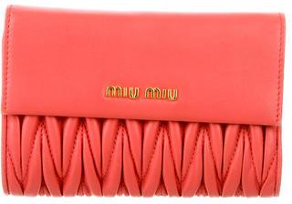 Miu MiuMiu Miu Matelassé Compact Wallet