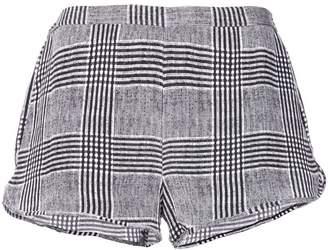Fleur Du Mal check short shorts