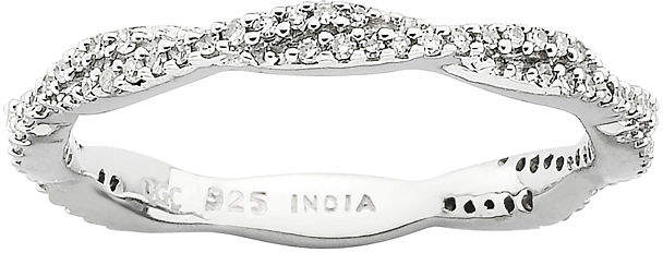 JCPenney FINE JEWELRY Personally Stackable 1/4 CT. T.W. Diamond Twist Ring