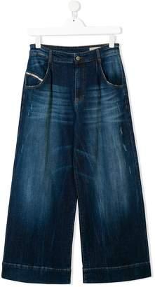 Diesel Teen wide-legged jeans