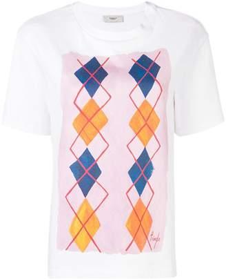 Pringle argyle print T-shirt