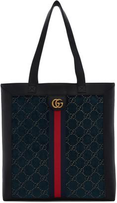 Gucci Blue Velvet GG Tote