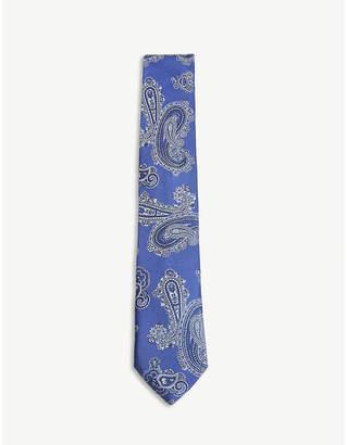 Duchamp Paisley print silk tie