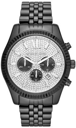 Michael Kors Lexington Pave Chronograph Bracelet Watch, 45mm x 54mm