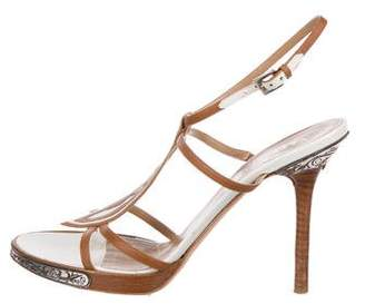 Valentino Leather Ankle Strap Sandals