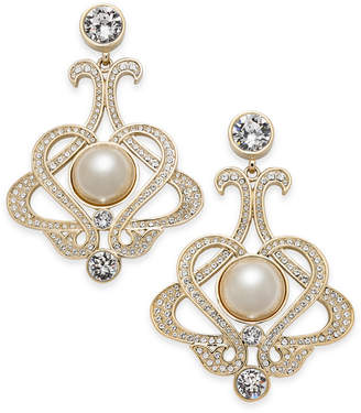Nina Imitation Pearl and Swarovski Crystal Drop Earrings