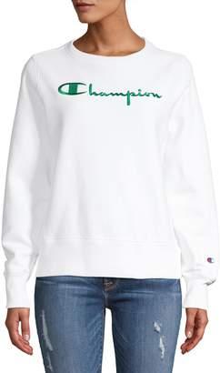 Champion Contrast Script Logo Reverse Weave Sweatshirt