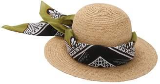 Borsalino Printed Bandana Straw Hat